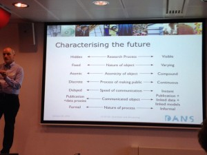 @atreloar presents dimensions of change in scholarly practice and communications.