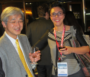 Presenters Chu Ishida (Japan Aerospace Exploration Agency) and Catherine Doldrina (EC Joint Research Centre)