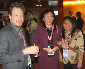 Presenters Daniel Quintart (EC), Liu Chuang (Chinese Academy of Sciences) and DSWG Member Ambinintsoa Noasilalaonomenj Anahary (Madagascar)