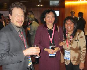 Presenters Daniel Quintart (EC), Liu Chuang (Chinese Academy of Sciences) and DSWG Member Ambinintsoa Noasilalaonomenj Anahary (Madagascar)